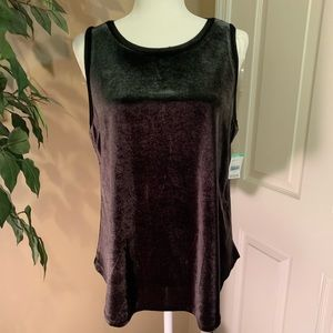 Simply Emma Tops - Black velvet feel camisole size 1X